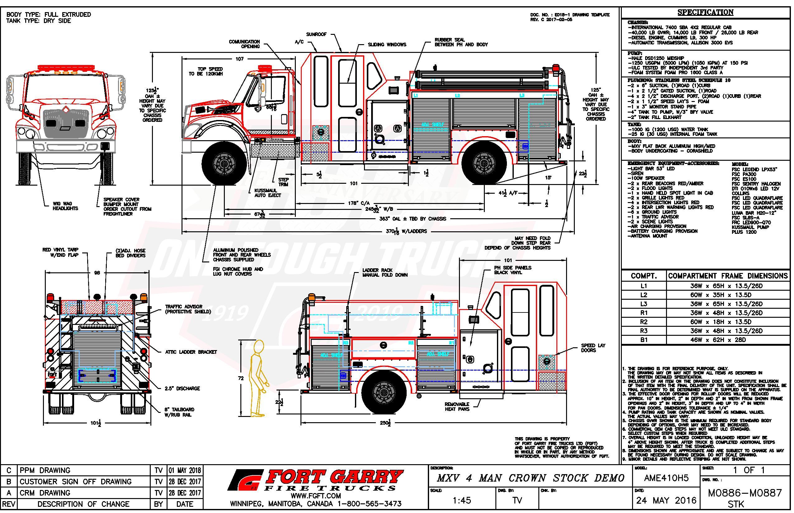 Stock Trucks Fort Garry Fire Rescue Freightliner Truck Engine Diagram Foam System Pro 1600 To Both Speedlays