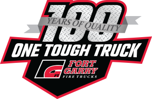 Fort Garry Fire Trucks 100 Year Logo - 300px